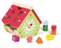 Janod - Sorter kształtów Domek drewniany zielony