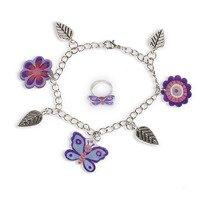 Janod - Zestaw artystyczny do tworzenia biżuterii z kurczliwego plastiku Motyle
