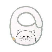 Lassig - Śliniak bawełniany wodoodporny 0m+ Little Chums Kot