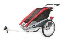 Przyczepka rowerowa dla dziecka - THULE Chariot Cougar 1 - czerwona