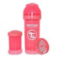 Twistshake - Antykolkowa butelka do karmienia, brzoskwiniowa 260ml