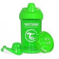 Twistshake - Kubek niekapek z mikserem do owoców, zielony 300ml