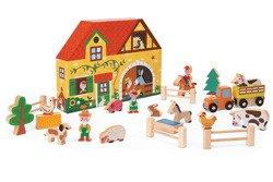 Janod - Farma zestaw drewniany Story Box