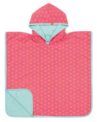 Lassig - Ręcznik Poncho Peach Stars 120x60 cm UV 50+, 12-36 m-cy