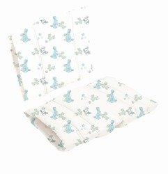 Poduszka do krzesła DanChair - Bunny Hop - niebieski