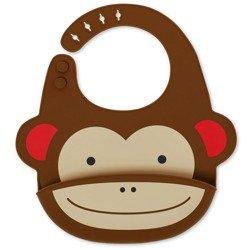 Skip Hop - Śliniak silikonowy Zoo Małpa