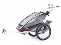 THULE Chariot CX2, podwójna przyczepka rowerowa dla dzieci - czerwona