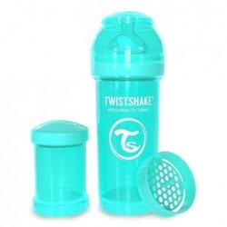 Twistshake - Antykolkowa butelka do karmienia, turkusowa 260ml
