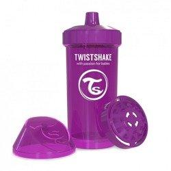 Twistshake - Kubek niekapek z mikserem do owoców, fioletowy 360ml