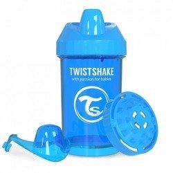 Twistshake - Kubek niekapek z mikserem do owoców, niebieski 300ml
