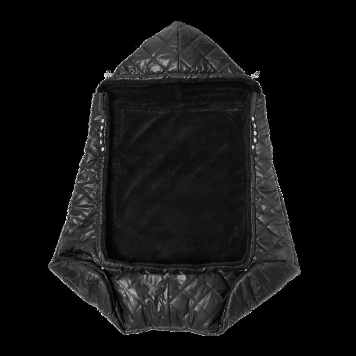 7AM - Śpiworek do nosidełka i wózka K-Poncho Black Plush