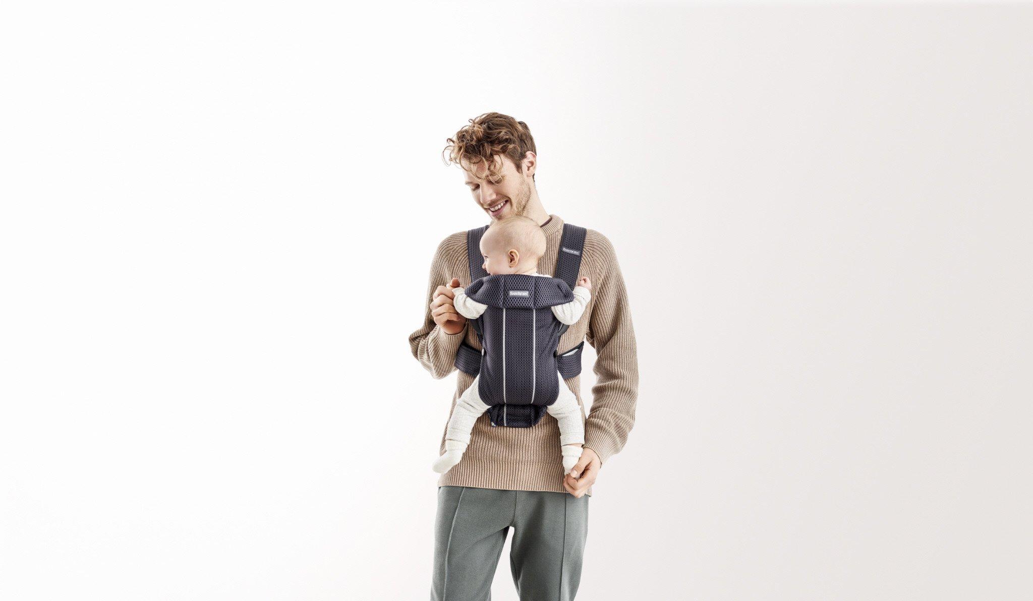 BABYBJORN MINI 3D Mesh – nosidełko, Antracytowy