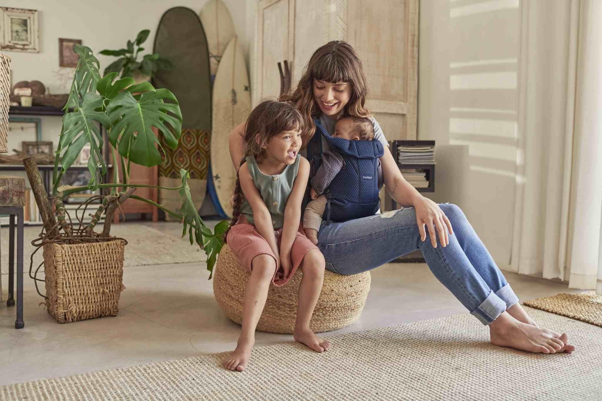 BABYBJORN MOVE 3D Mesh - nosidełko, Granatowy