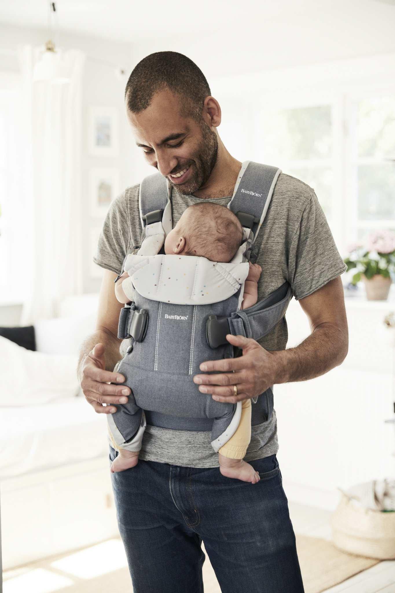 BABYBJORN ONE - nosidełko, Sprinkles Denim Niebieski
