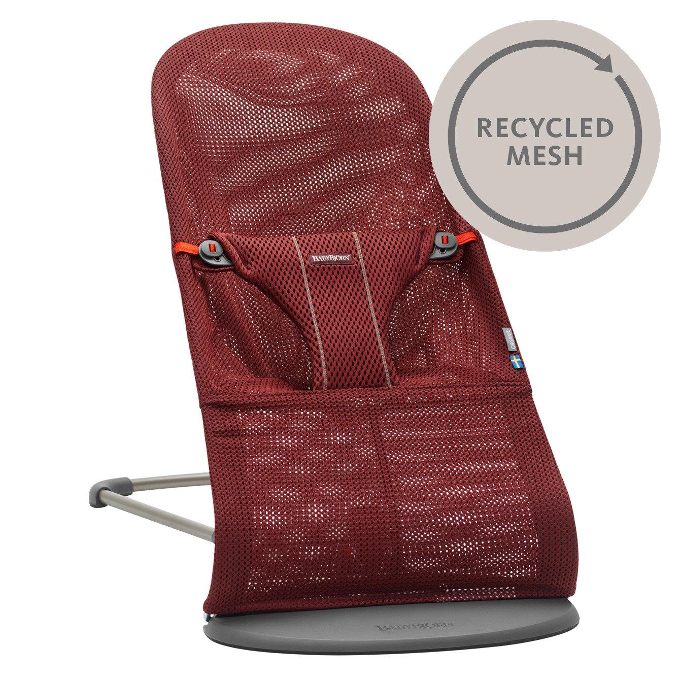 BABYBJORN - leżaczek BLISS MESH - Burgundy Recycled Mesh