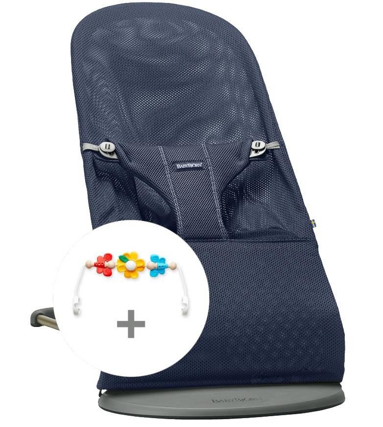 BABYBJORN - leżaczek BLISS MESH - Granatowy + Zabawka