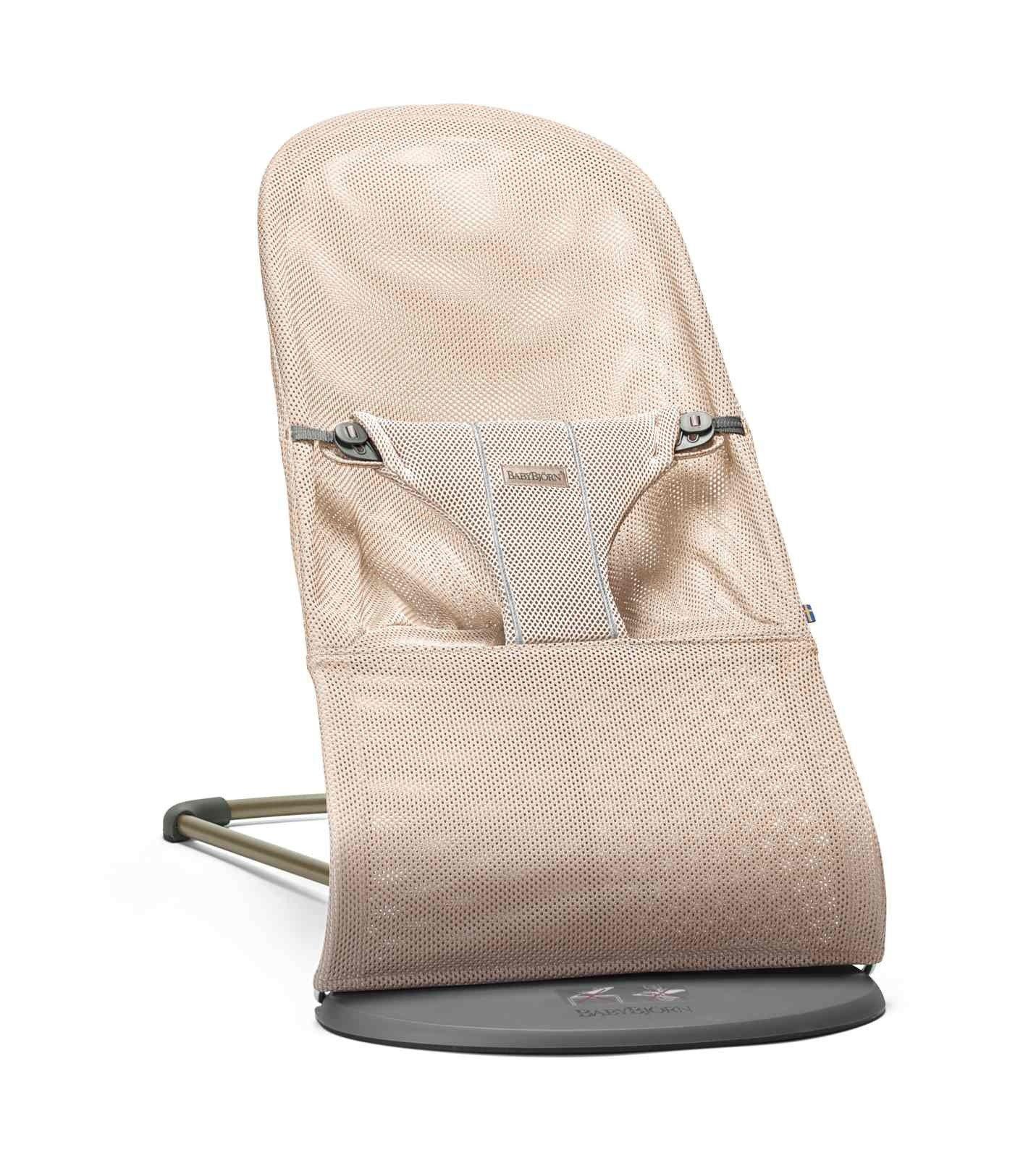 BABYBJORN - leżaczek BLISS MESH - Perłowy Różowy