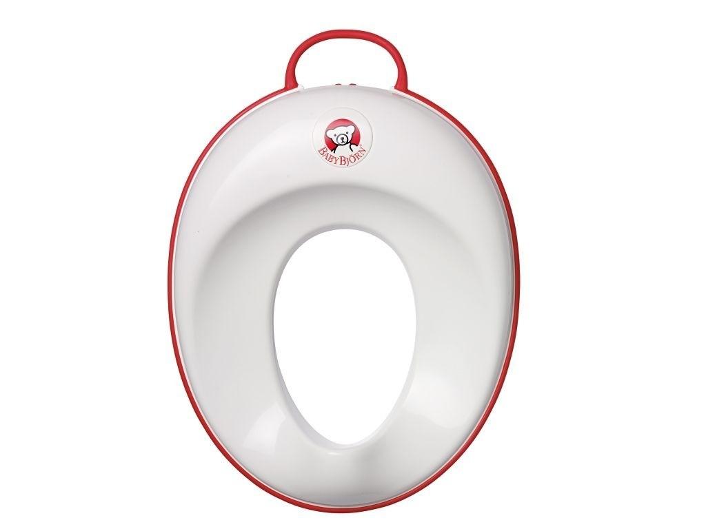 BABYBJORN - nakładka na deskę sedesową biały/czerwony