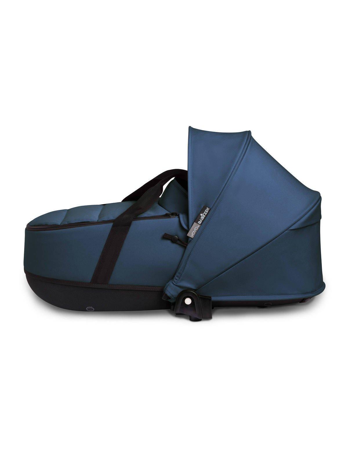 BABYZEN YOYO² - zestaw czarna rama + gondola - Navy Blue
