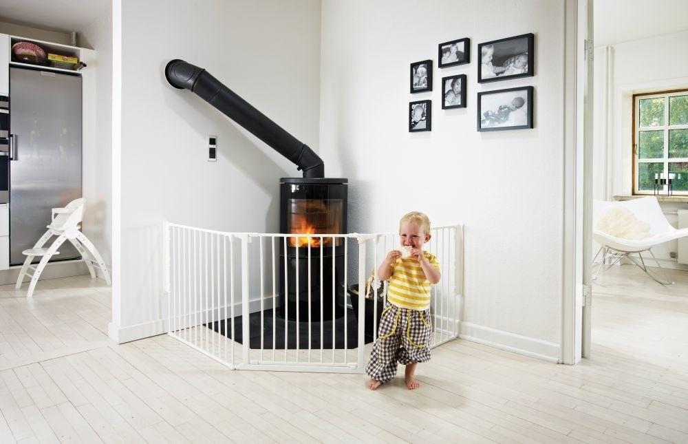 Baby Dan - Bramka ochronna FLEX L, biały