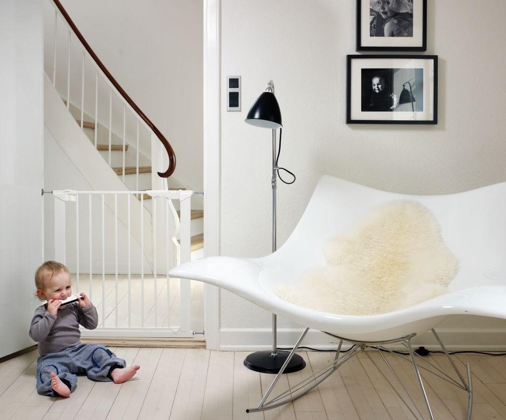 Baby Dan - Bramka ochronna PREMIER + 6 rozszerzeń, biała