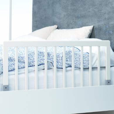 Baby Dan - Drewniana barierka ochronna łóżka - biała