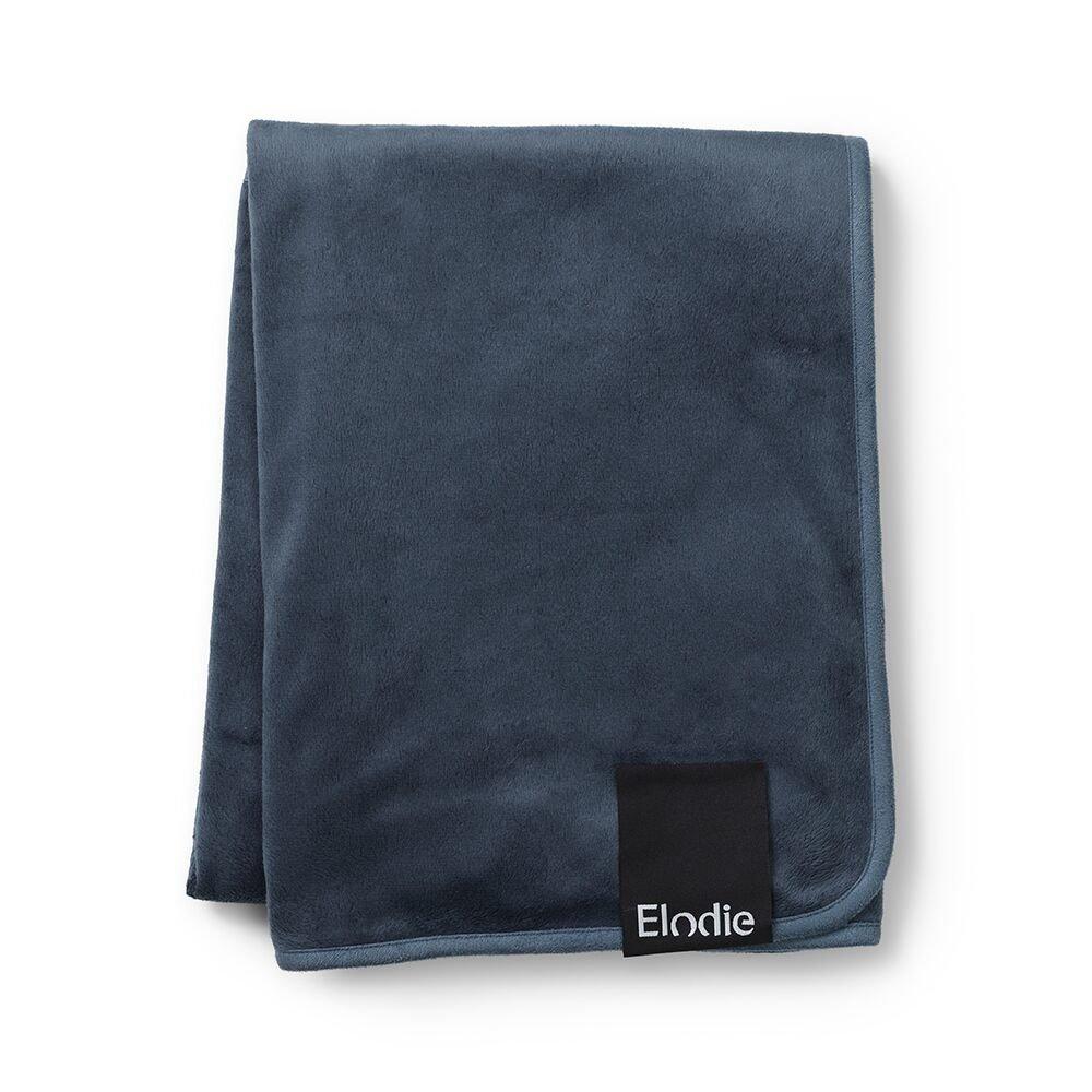 Elodie Details - Kocyk Pearl Velvet - Juniper Blue