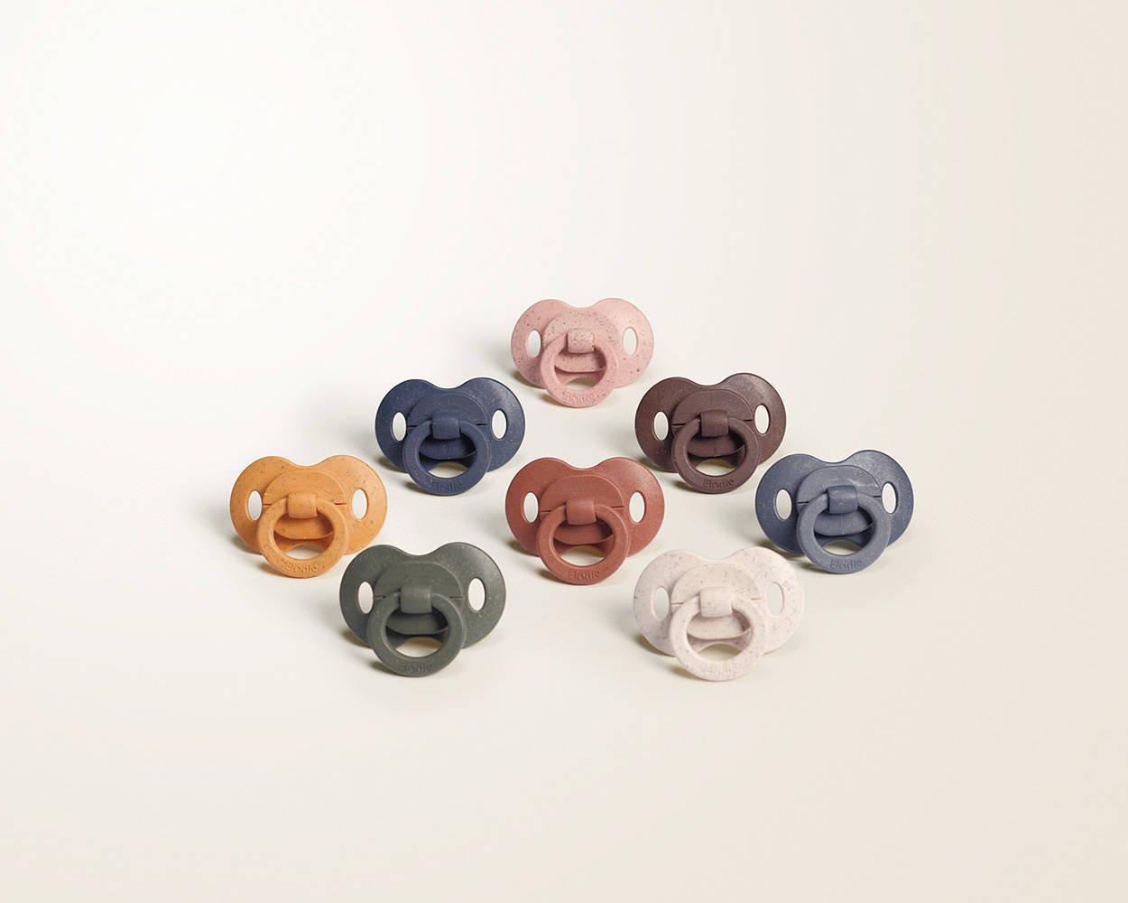 Elodie Details - Smoczek bambusowy silikonowy 3m+ - Faded Rose