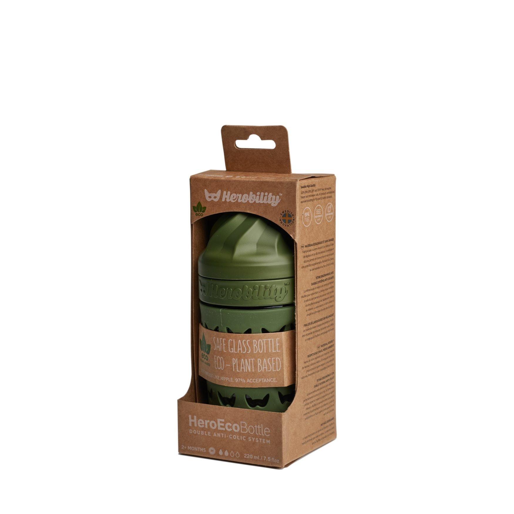 Herobility - butelka antykolkowa HeroEcoBottle - zielona, 220 ml