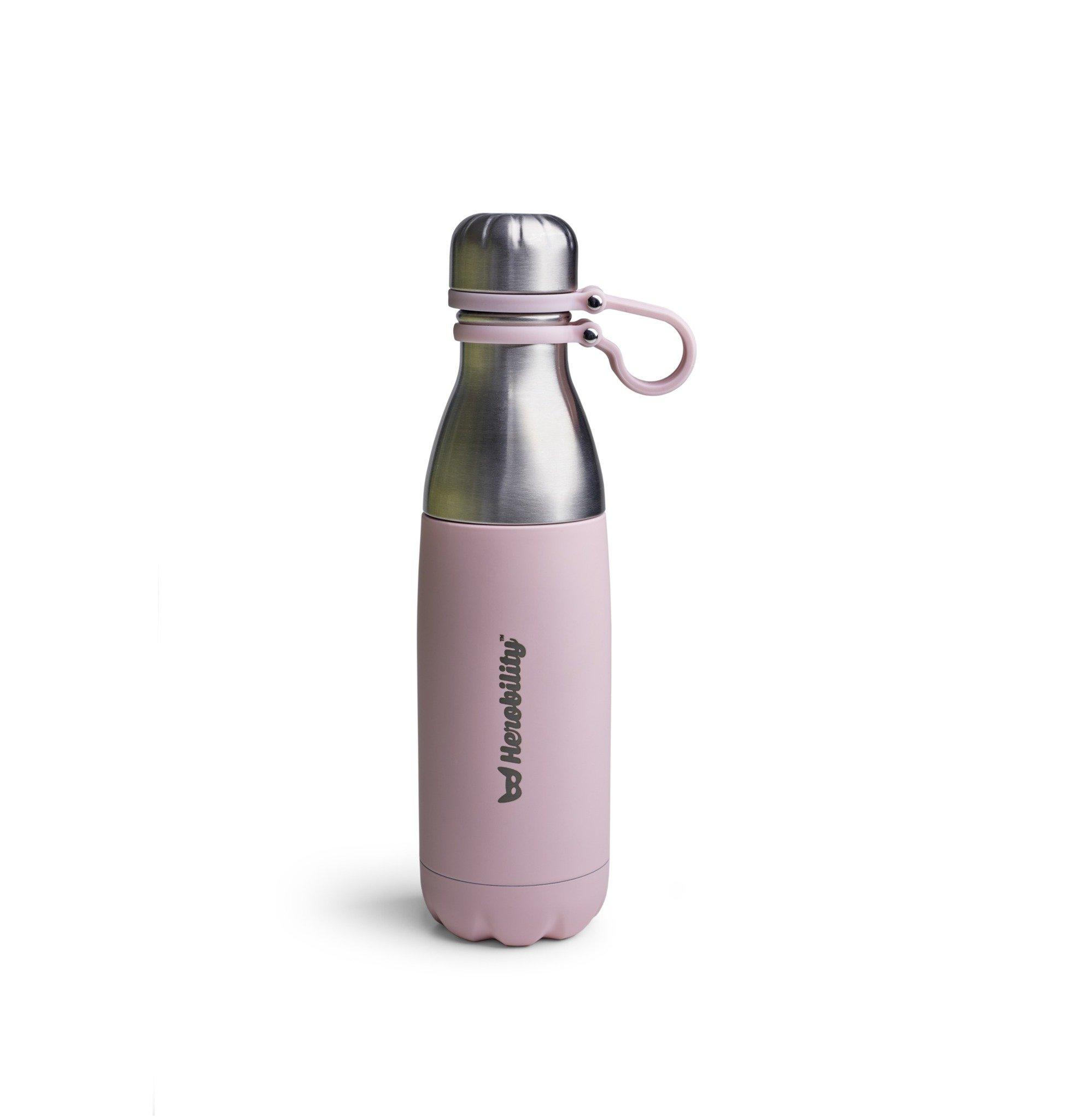 Herobility - butelka termiczna HeroGo 500ml - Różowa