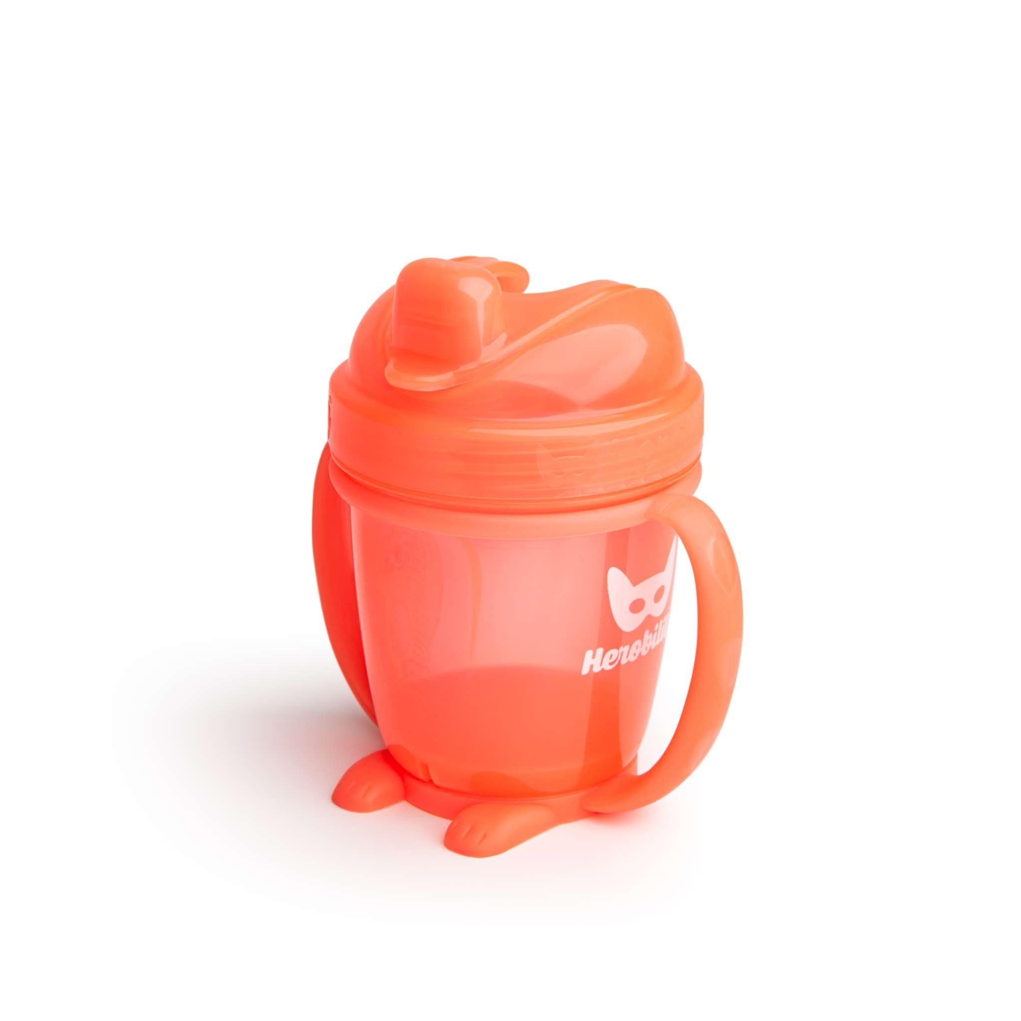 Herobility – kubek niekapek HeroSippy 140 ml, pomarańczowy
