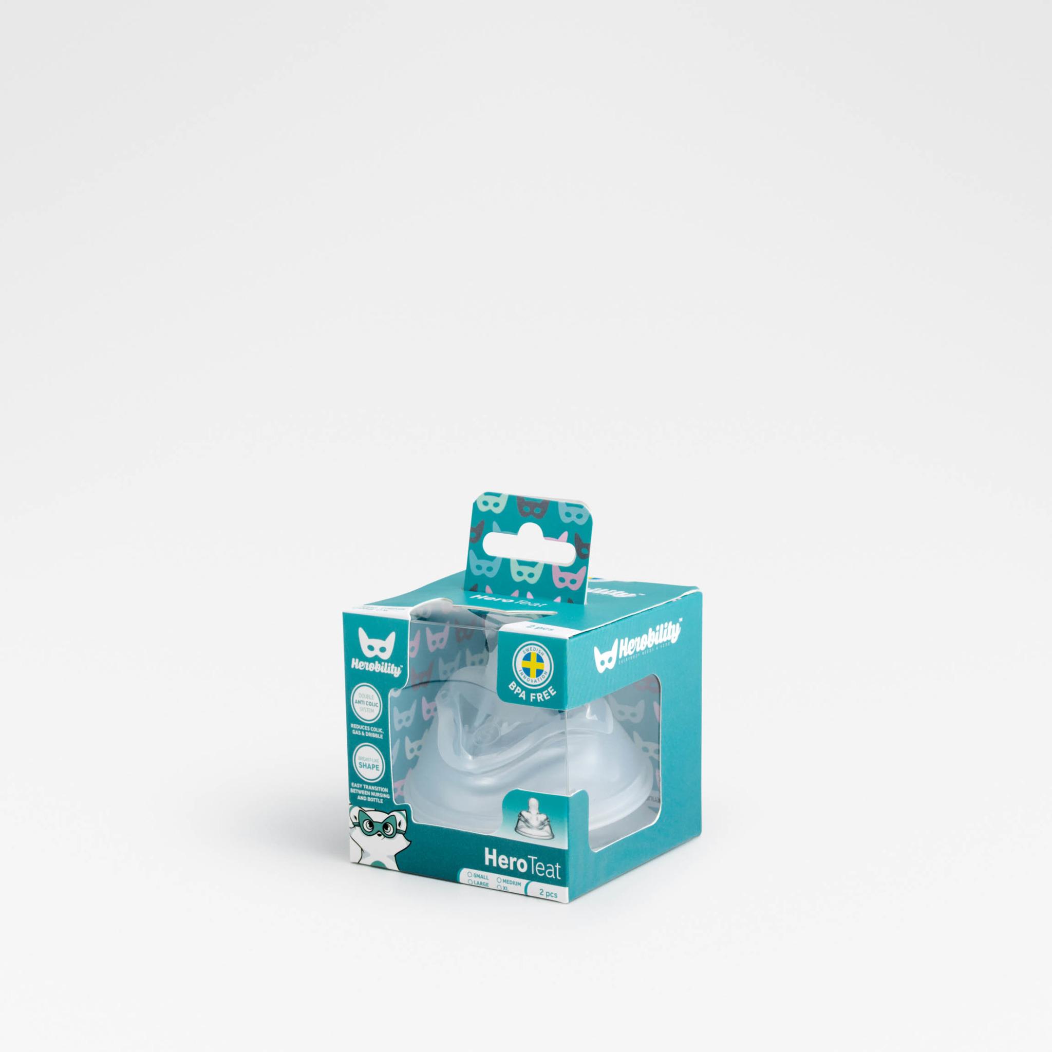Herobility - smoczek antykolkowy HeroTeat, L (4 m+), 2 szt.