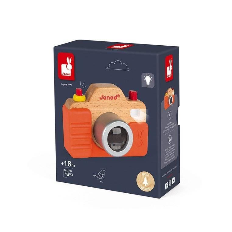 Janod - Drewniany aparat fotograficzny z dźwiękami