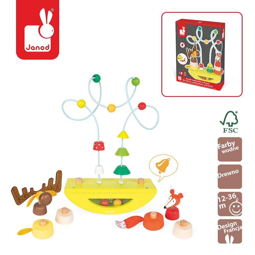 Janod - Platforma edukacyjna Łoś i lisek Baby Forest