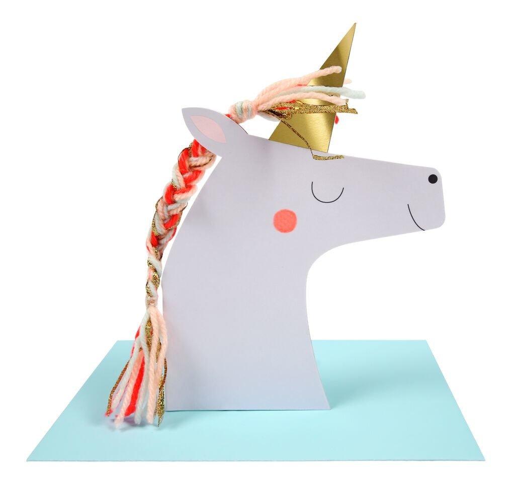 Meri Meri – Kartka okolicznościowa 3D Jednorożec