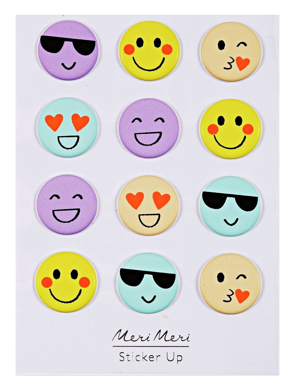 Meri Meri – Naklejki 3D Emotikony