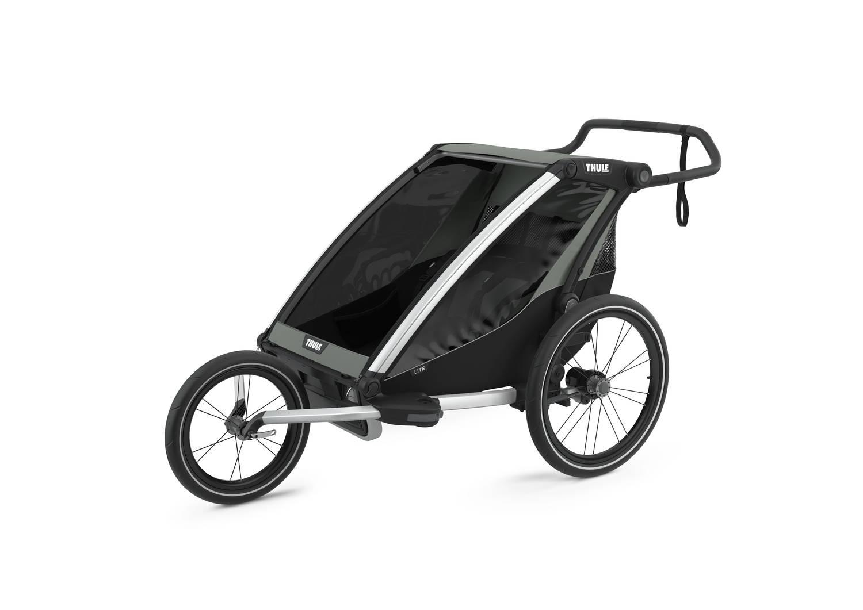 Przyczepka rowerowa dla dziecka - THULE Chariot Lite 2 - Agave-Black