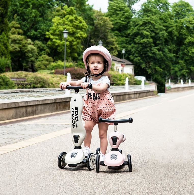 SCOOTANDRIDE - Highwaykick 2w1 Jeździk i hulajnoga 1-5 lat Rose