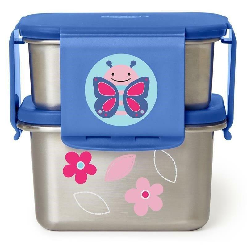 Stalowe pudełko śniadaniowe Motyl