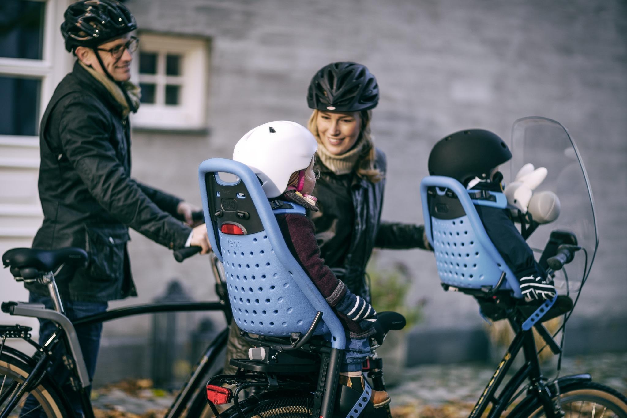 THULE - Yepp Maxi fotelik rowerowy - czarny, montowany na bagażnik roweru