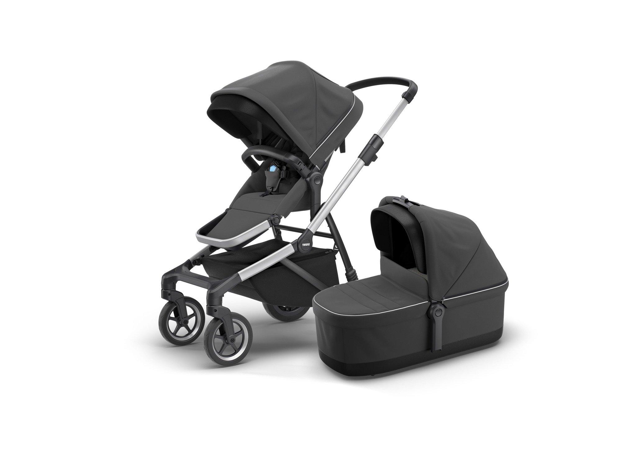 Thule Sleek - zestaw siedzisko spacerowe + gondola - Shadow Grey