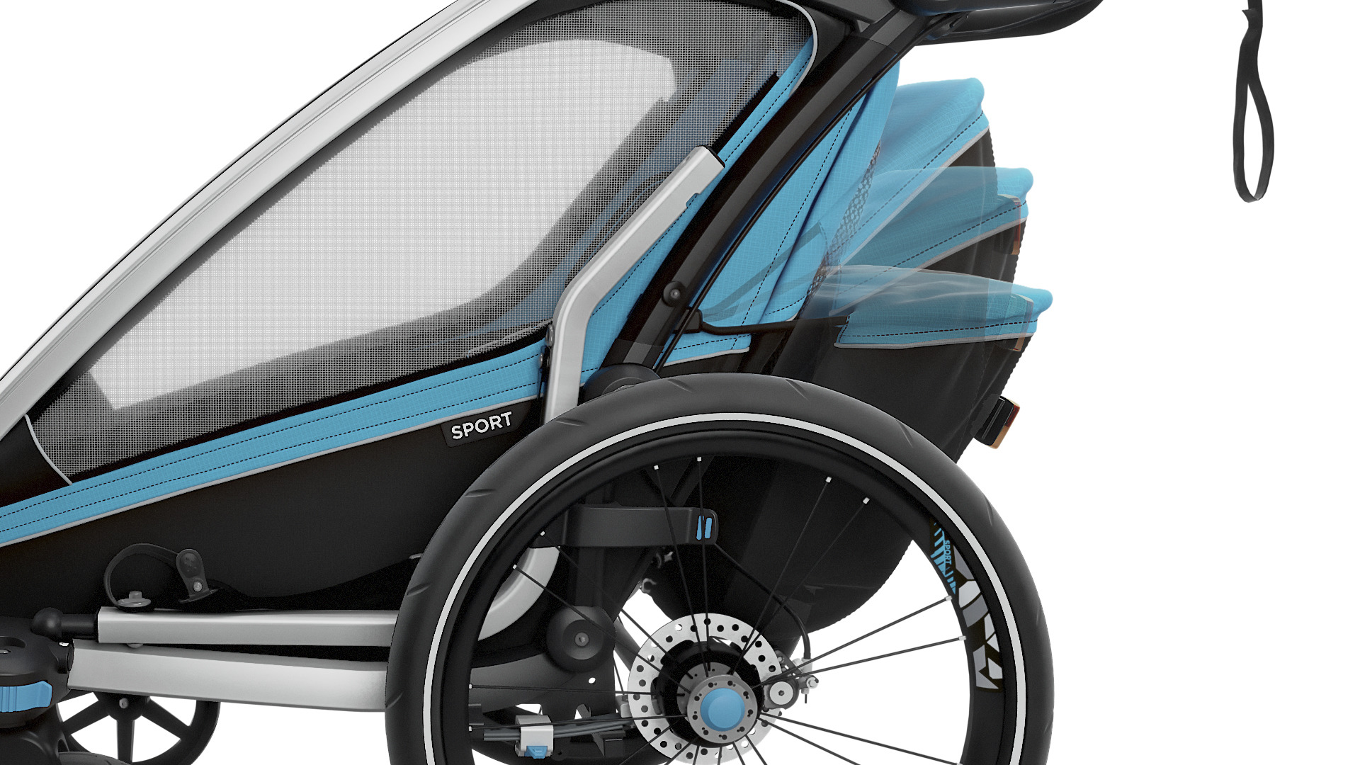 Wózek do biegania - THULE Chariot Sport 1 - niebieski/czarny