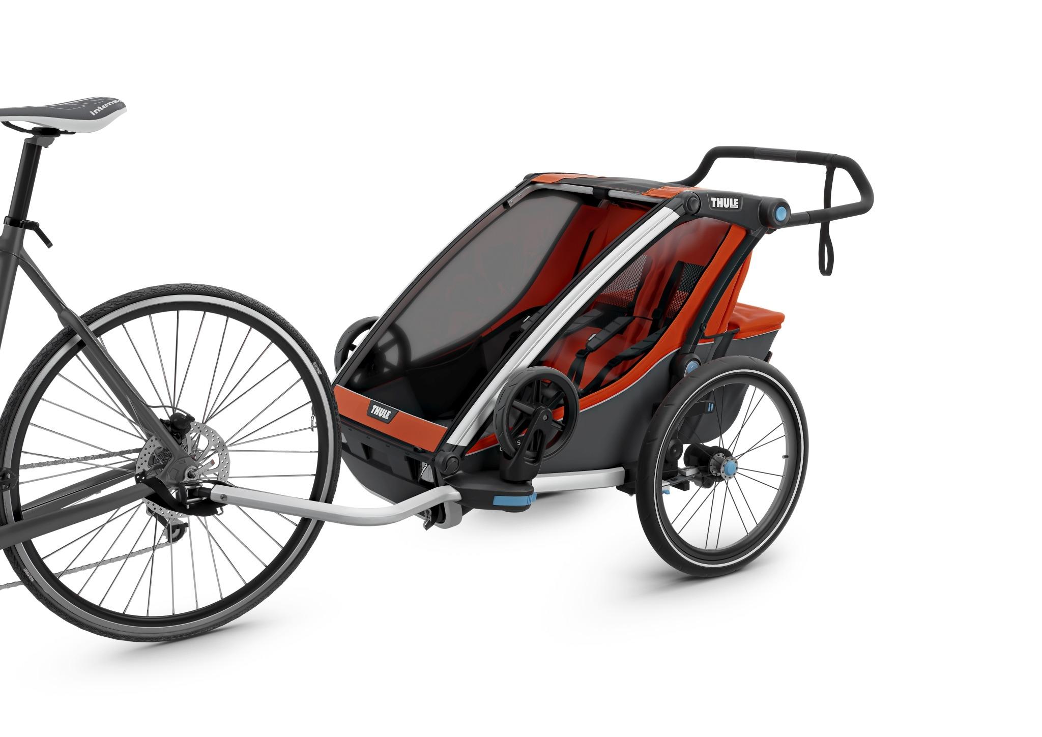 Wózek do biegania, podwójny - THULE Chariot Cross 2 - czerwony/szary