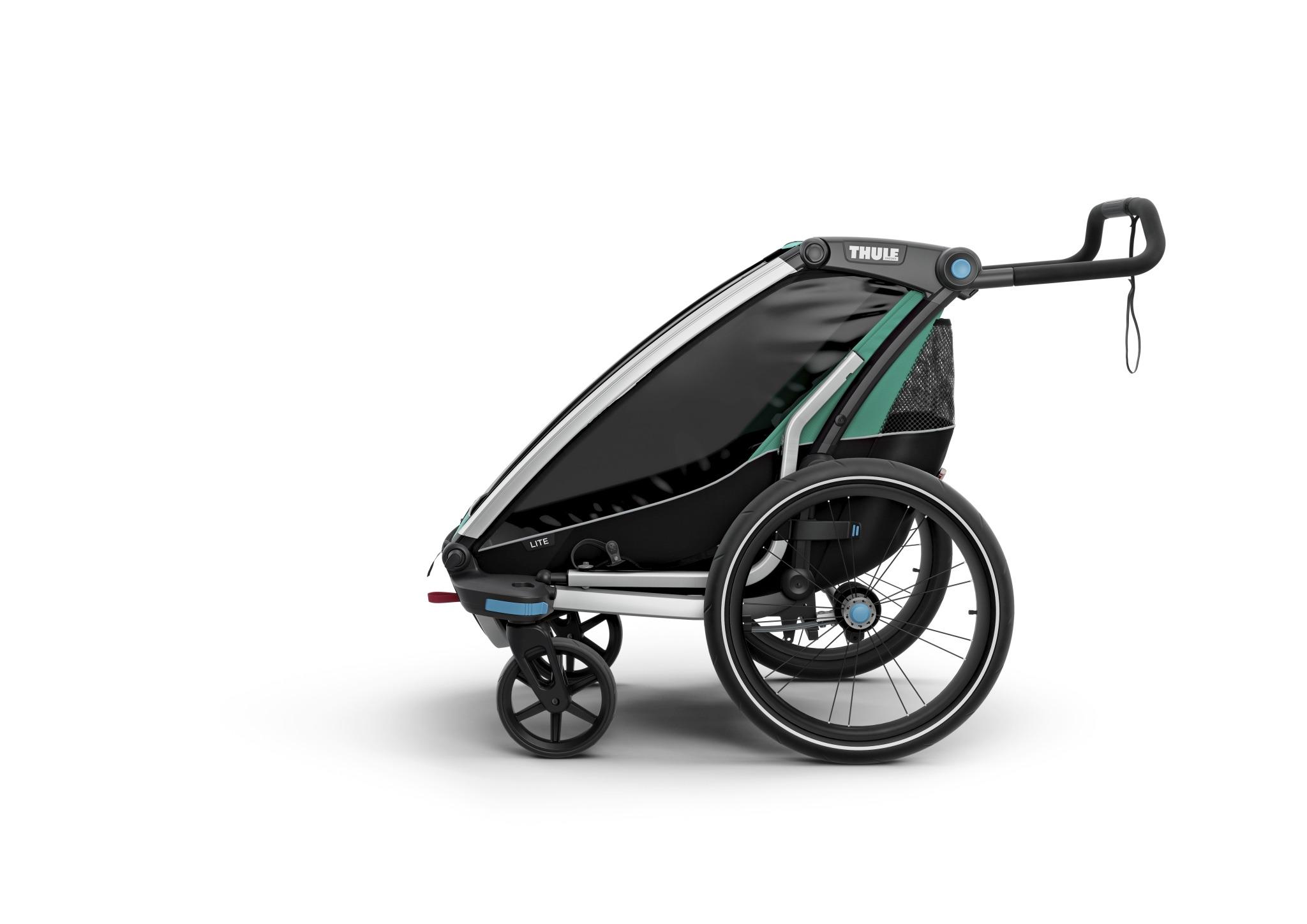 Wózek do biegania, podwójny - THULE Chariot Lite 2 - morski/czarny