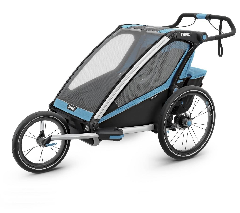 Wózek do biegania, podwójny - THULE Chariot Sport 2 - niebieski/czarny