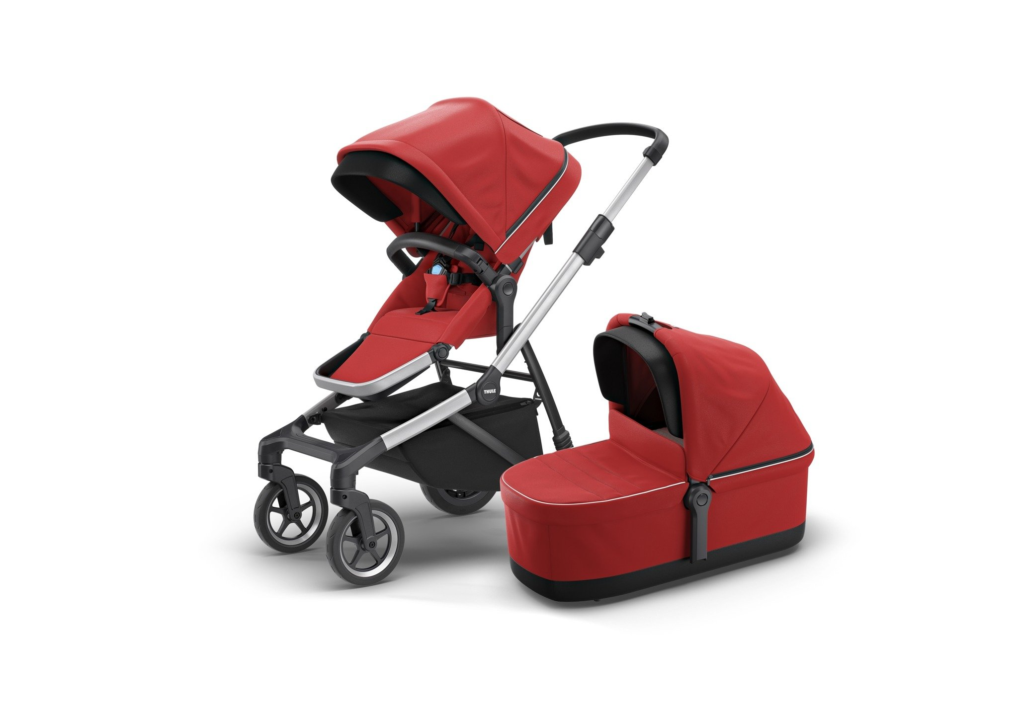 Wózek głęboko spacerowy Thule Sleek Energy Red