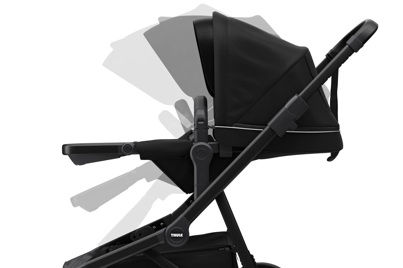 Wózek głęboko spacerowy Thule Sleek Midnight Black on Black