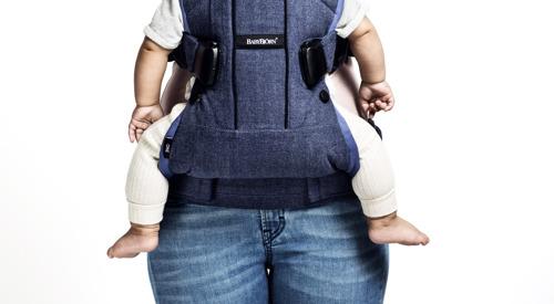 BABYBJORN ONE - nosidełko ergonomiczne, Denim szary