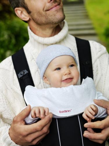 BABYBJORN - śliniaczek do nosidełka, czarny