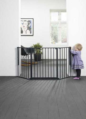 Baby Dan - Bramka ochronna FLEX M, czarny